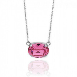 Collar oval rose de Celine en plata