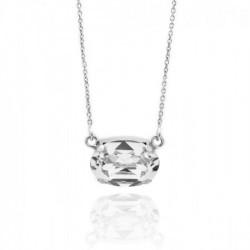 Collar oval crystal de Celine en plata
