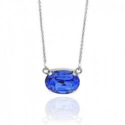 Silver Necklace Celine oval