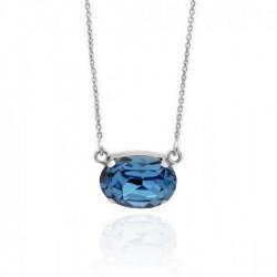 Collar oval denim blue de Celine en plata
