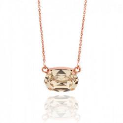 Pink Gold Necklace Celine oval