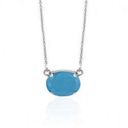Collar oval azure blue de Celine en plata