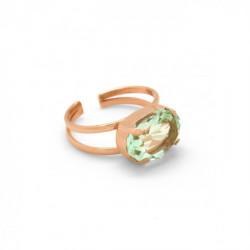 Anillo oval chrysolite de Celine en oro rosa