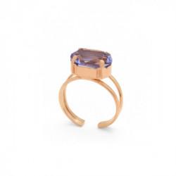 Pink Gold Ring Celine oval L