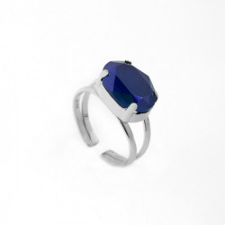 Silver Ring Celine oval L