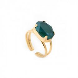 Anillo oval royal green de Celine en oro