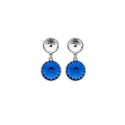 Silver Earrings Basic double M