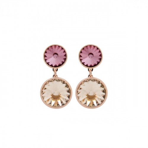 Pink Gold Earrings Basic double G