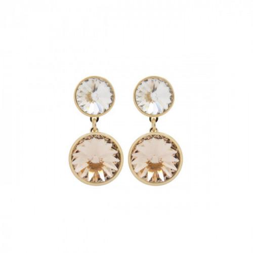 Gold Earrings Basic double G