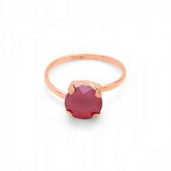 Anillo royal red de Celine en oro rosa
