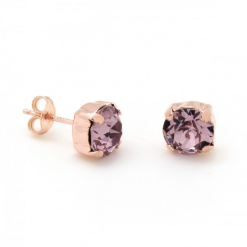 Rose Gold Earrings Celine L. Amethyst