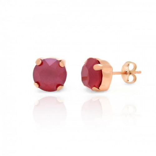Pink Gold Earrings Celine Basic M