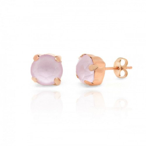 Pink Gold Earrings Celine Basic M