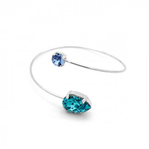 Silver Bracelet Celine teardrop