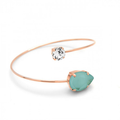 Pink Gold Bracelet Celine teardrop