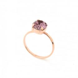 Anillo light amethyst de Celine en oro rosa