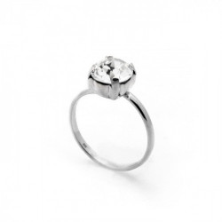 Celine crystal ring in silver