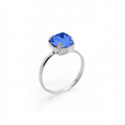 Celine sapphire ring in silver