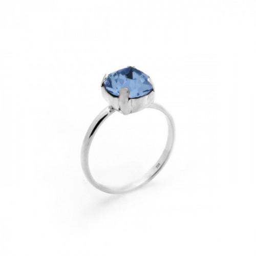 Anillo denim blue de Celine en plata