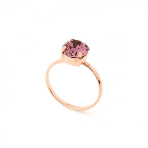 Celine antique pink ring in rose gold