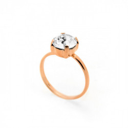 Celine crystal ring in rose gold