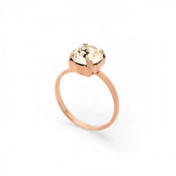Celine light silk ring in rose gold