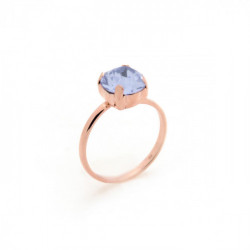 Celine violet ring in rose gold