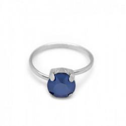 Anillo royal blue de Celine en plata
