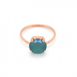 Celine royal green ring in rose gold