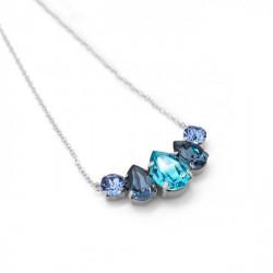 Collar lágrimas light turquoise de Celine en plata