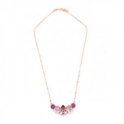 Collar lágrimas antique pink de Celine en oro rosa