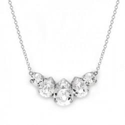 Collar lágrimas crystal de Celine en plata