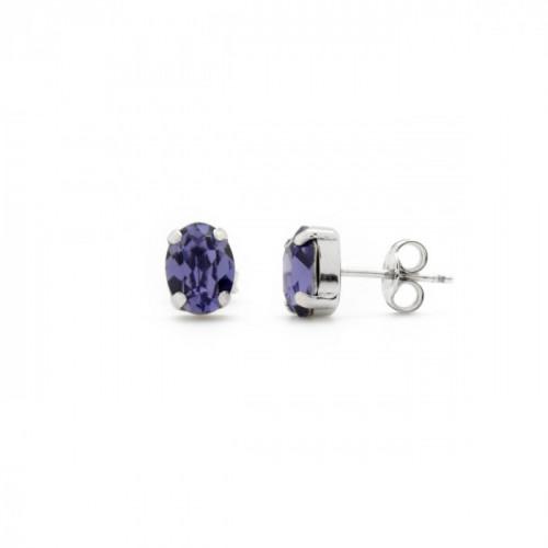 Silver Earrings Celine oval S