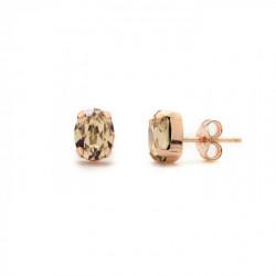 Pink Gold Earrings Celine oval S