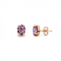 Pink Gold Earrings Celine oval S