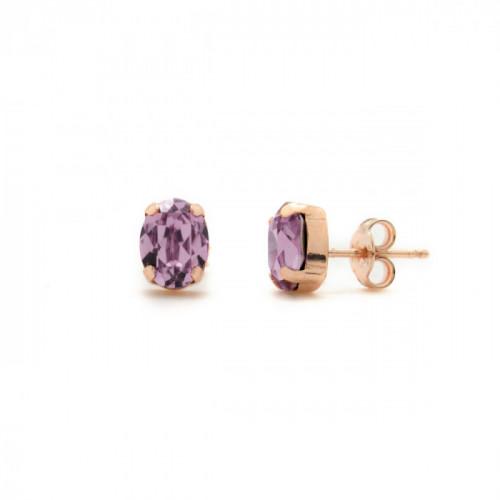 Pendientes Celine oval S oro rosa