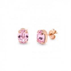 Pendientes oval rosaline de Celine en oro rosa