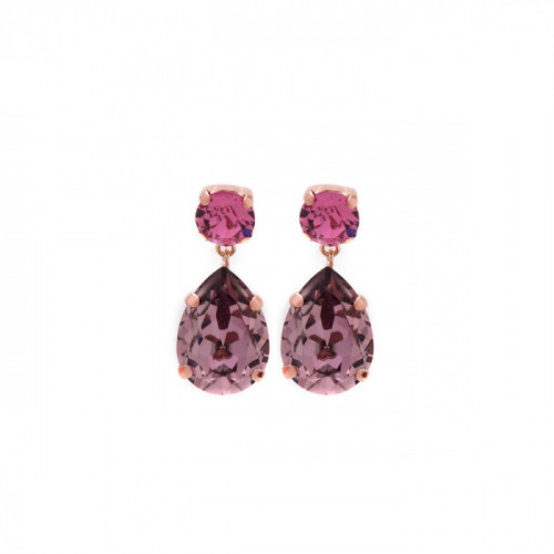 Pink Gold Earrings Celine teardrop