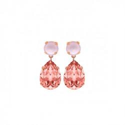 Pink Gold Earrings Celine teardrop