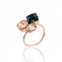 Celine emerald ring in rose gold