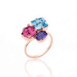 Celine aquamarine ring in rose gold