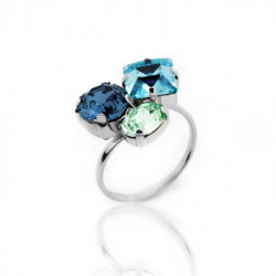 Silver Ring Celine 3 crystals