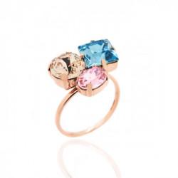Celine aquamarine ring in rose gold