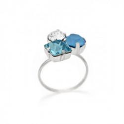 Celine summer blue ring in silver