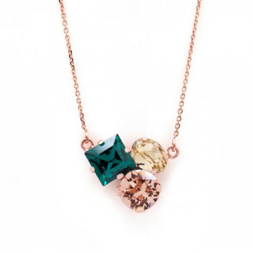 Collar Celine Cube oro rosa