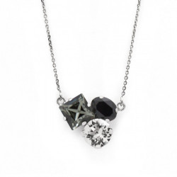 Silver Necklace Celine Cube