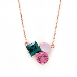 Pink Gold Necklace Celine Cube