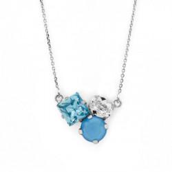 Silver Necklace Celine Cube