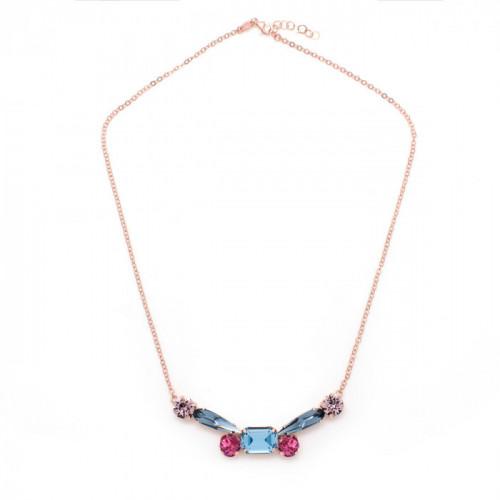 Pink Gold Necklace Celine dragonfly