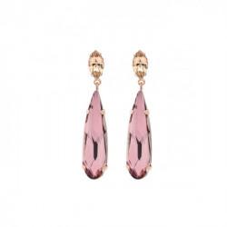 Pendientes lágrimas antique pink de Celine en oro rosa